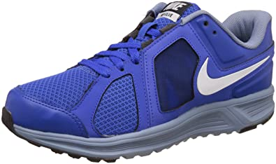 Nike Men's Lyon Blue, White, Cool Blue and Black Running Shoes - 10 UK