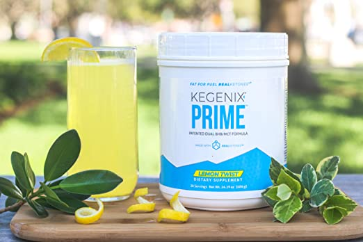Kegenix Prime Lemon Twist Keto BHB Salts + MCT Oil Exogenous Ketones Ketogenic Diet Supplement by Real Ketones. Best Flavor Patented Ketosis Formula ...