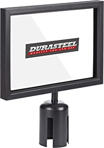 DuraSteel Stanchion Sign Holder - Landscape Display for 8.5