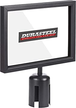 Amazon Com Durasteel Stanchion Sign Holder Landscape Display For 8 5 X 11 Paper Size Double Sided Sign Frame With Plexiglass Cover Not Fit With Us Weigh Sentry Stanchion