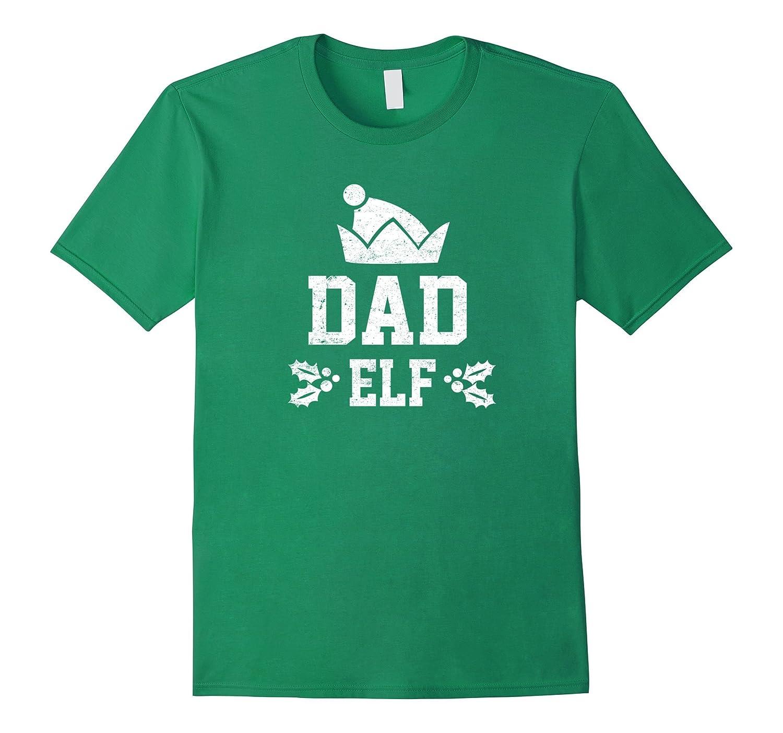 Dad Elf Pajama Christmas Holiday Season Funny Tshirt-FL
