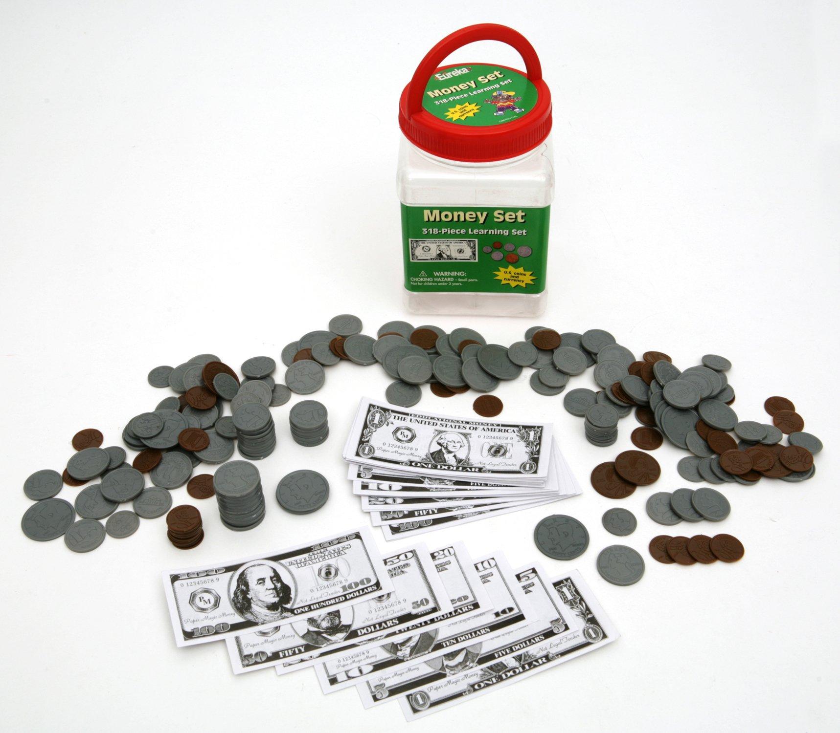 Eureka Tub Of Money, 318 Pieces in 3 3/4'' x 5 1/2'' x 3 3/4'' Tub