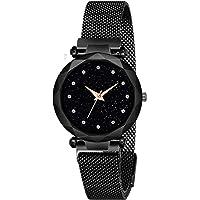 Shree NAVDURGA Luxury Mesh Magnet Buckle Starry Sky Quartz Watches for Girls Fashion Clock Mysterious Lady Analog Watch - for Girls