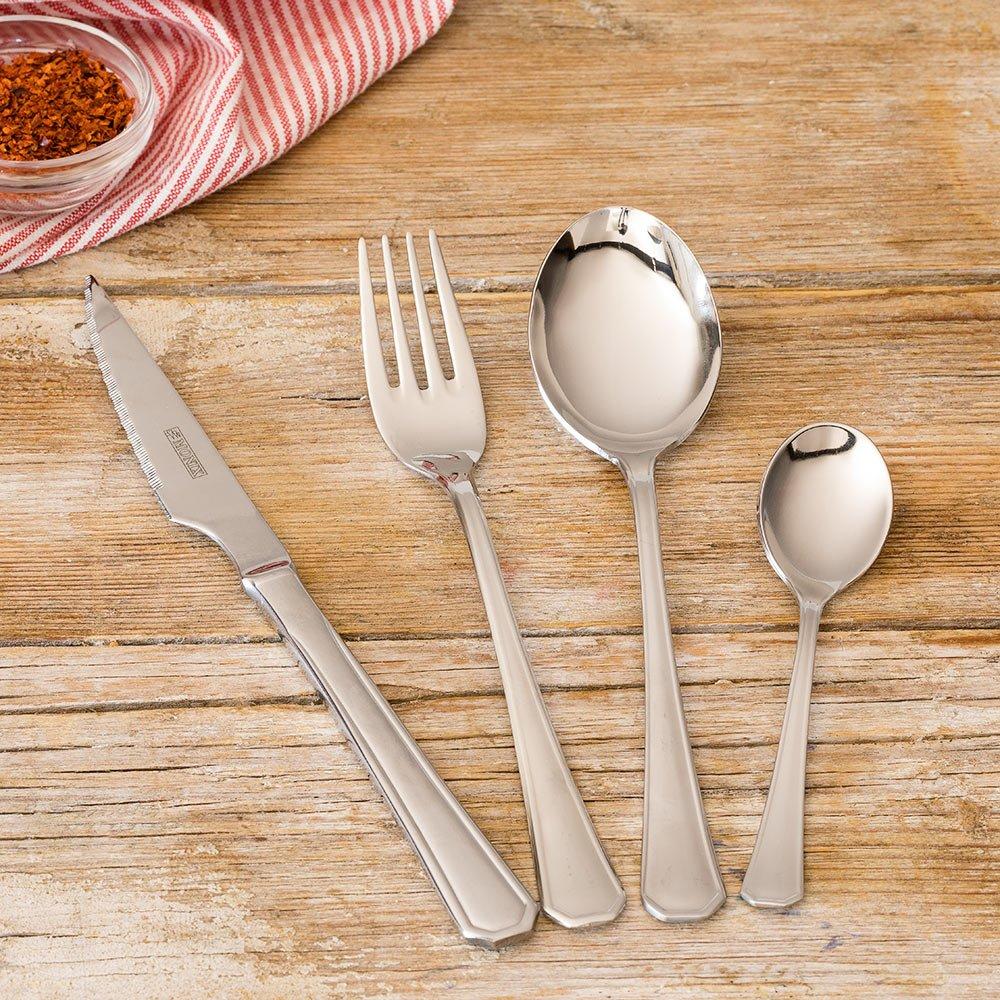 Monix Venecia - Set de cubiertos 24 piezas, cubiertos de acero inox 18/10 con cuchillo chuletero y estuche estilo Nogal: Amazon.es: Hogar
