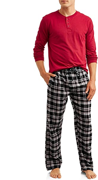 Hanes Sleepwear Mens Jersey Knit Pajama Set L Select SZ//Color.