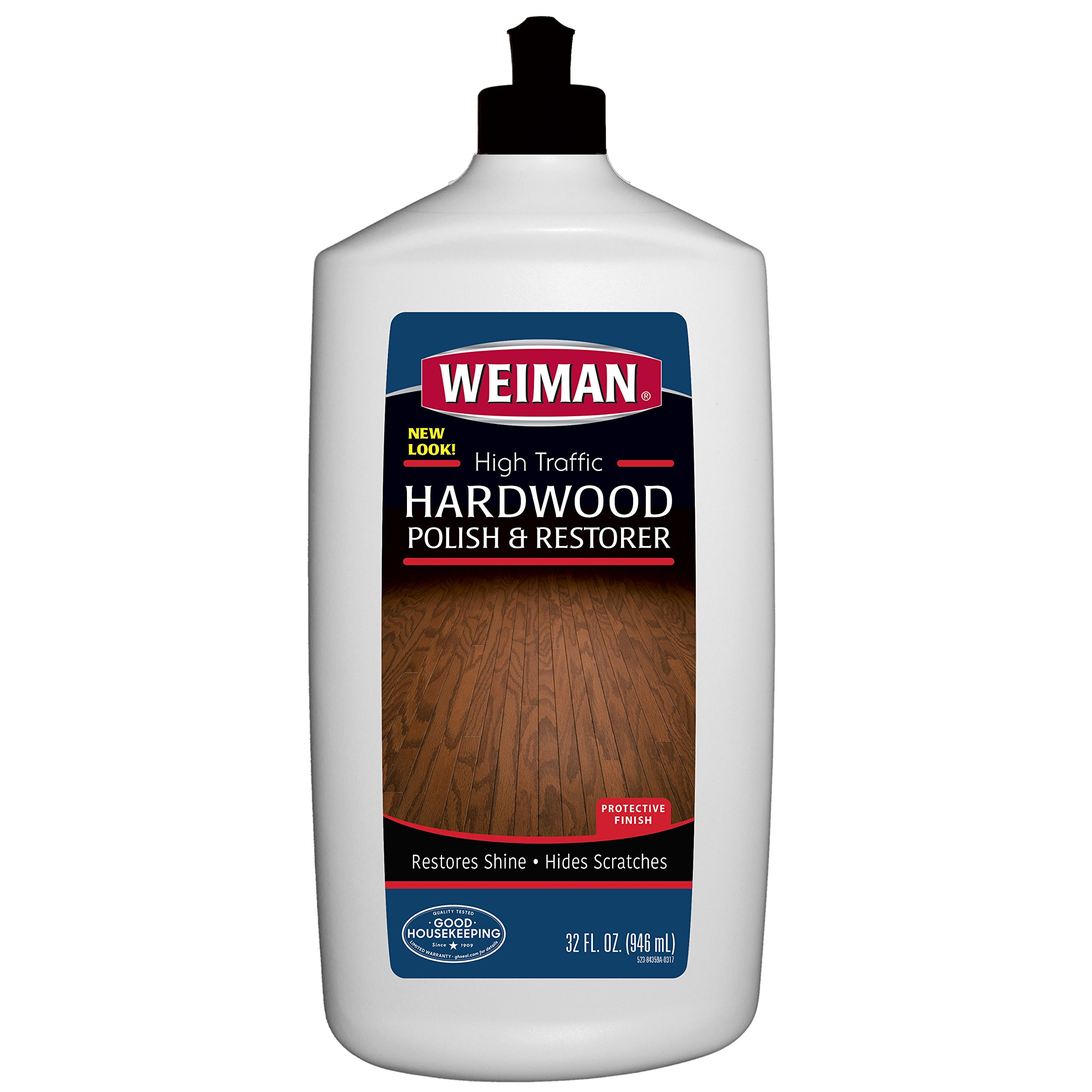 Weiman Wood Floor Polish and Restorer - 32 Ounce - High-Traffic Hardwood Floor, Natural Shine, Removes Scratches, Leaves Protective Layer by Weiman