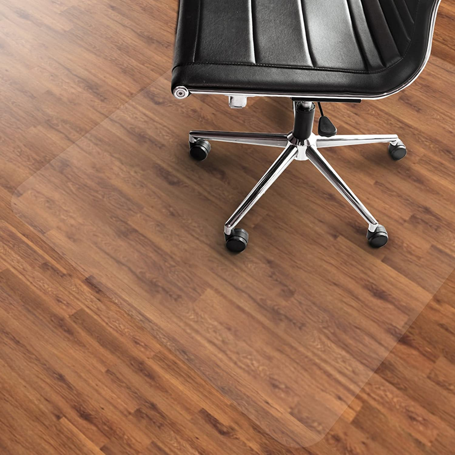 etm PVC Chair Mat, Hard Floor Protection - 75x120cm (2.5'x4') | Multiple Sizes | Highly Transparent