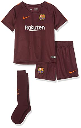 wholesale dealer 1fa2e 9c7ed Nike 2017-2018 Barcelona Third Little Boys Mini Kit: Amazon ...