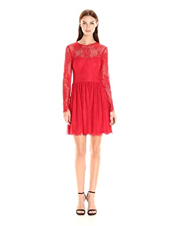GUESS Women's Long Sleeve Lace Dress at Amazon Women's Clothing store: