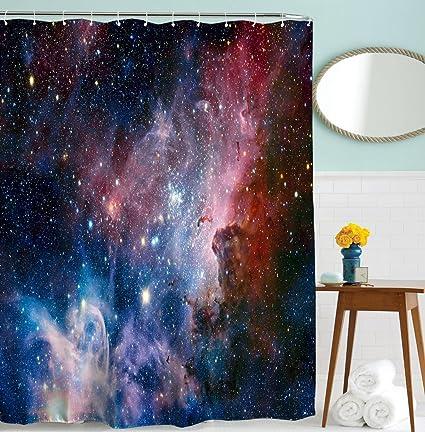 Captivating Goodbath Space Shower Curtain By, Galaxy Nebula Stars Space Exploration  Pattern Waterproof Fabric Bathroom Shower