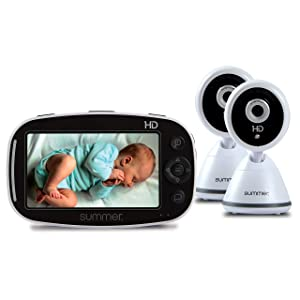 "Summer Baby Pixel Zoom HD Duo 5.0"" High Definition Video Baby Monitor with 2 Cameras"