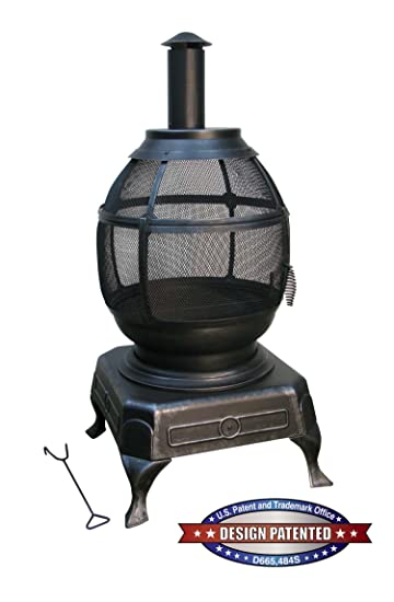 Amazon.com : Deckmate Potbelly Outdoor Fireplace Model 30321 ...