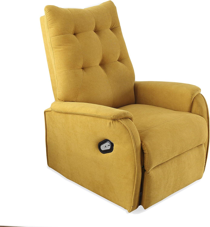 Alto Ancho tapizado en Tejido Color Gris Fondo x 80 cm Swing Sill/ón Relax autom/ático Medidas: 70 cm butaca Descanso 93 cm Adec