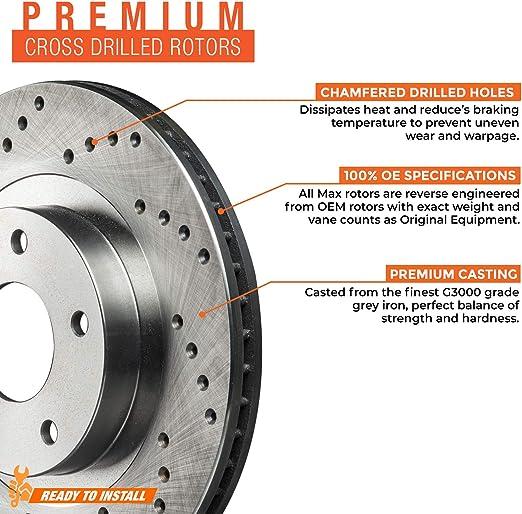 Rear Max Brakes Premium XD Rotors with Carbon Ceramic Pads KT044022
