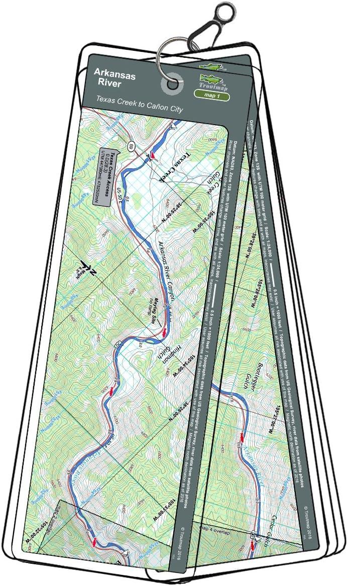 Arkansas River Map Set - Colorado, Texas Creek to Cañon City, Pueblo Reservoir Tailwater