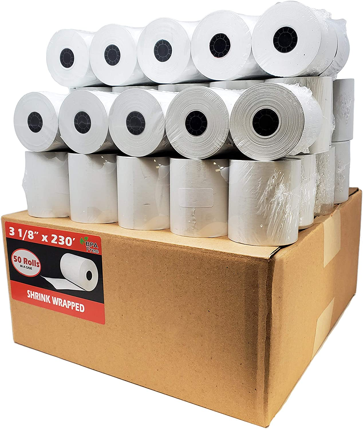 80 millimiters x 68 Meters GelJo Paper Thermal Rolls 50 Pieces Size 3 1//8 x 225 Premium fits Many Machines Please Review List Below