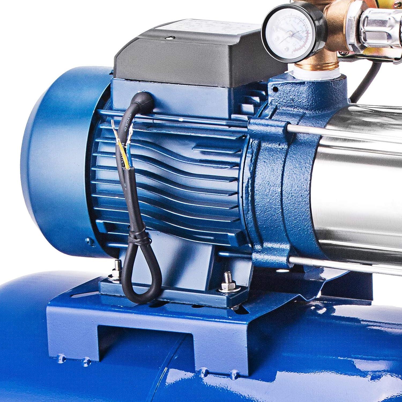 MC-1300-100L Olibelle Pompe Centrifuge de Jardin Pompe /à Eau en Acier Inoxydable avec Le R/écipient /à Pression Pompe /à Eau Centrifuge