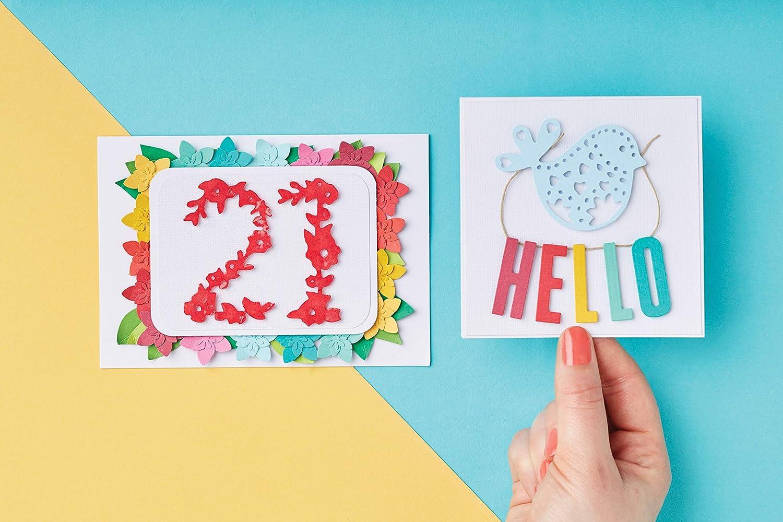 Anitas Docrafts - Paquete de 100 tarjetas y sobres A6, crema: Amazon.es: Oficina y papelería
