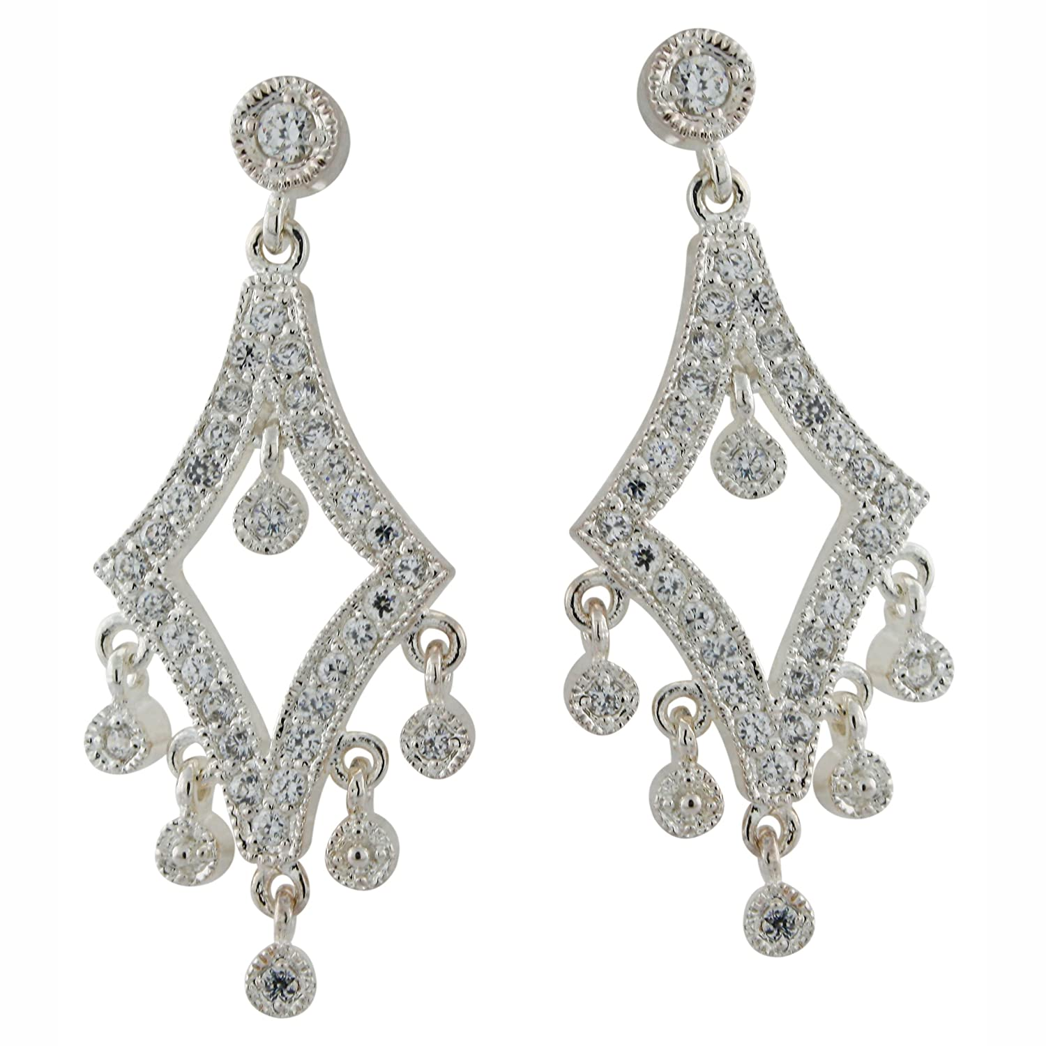 Amazon sterling silver cubic zirconia chandelier earrings amazon sterling silver cubic zirconia chandelier earrings dangle earrings jewelry arubaitofo Choice Image