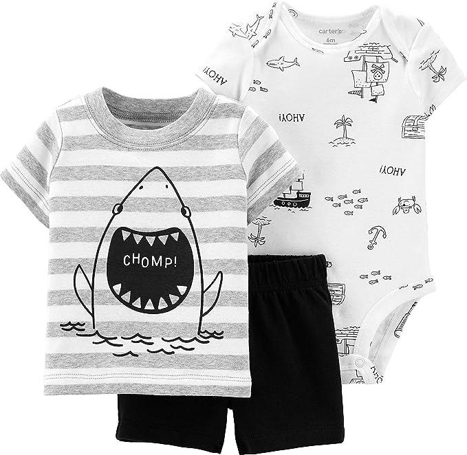 fbfeadb9d Amazon.com: Carter's Baby Boys' 3-Piece Little Short Sets: Clothing