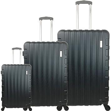 la meilleure attitude acee4 4b42b Set de 3 valises Alain Manoukian 26 ABS (Black): Amazon.fr ...