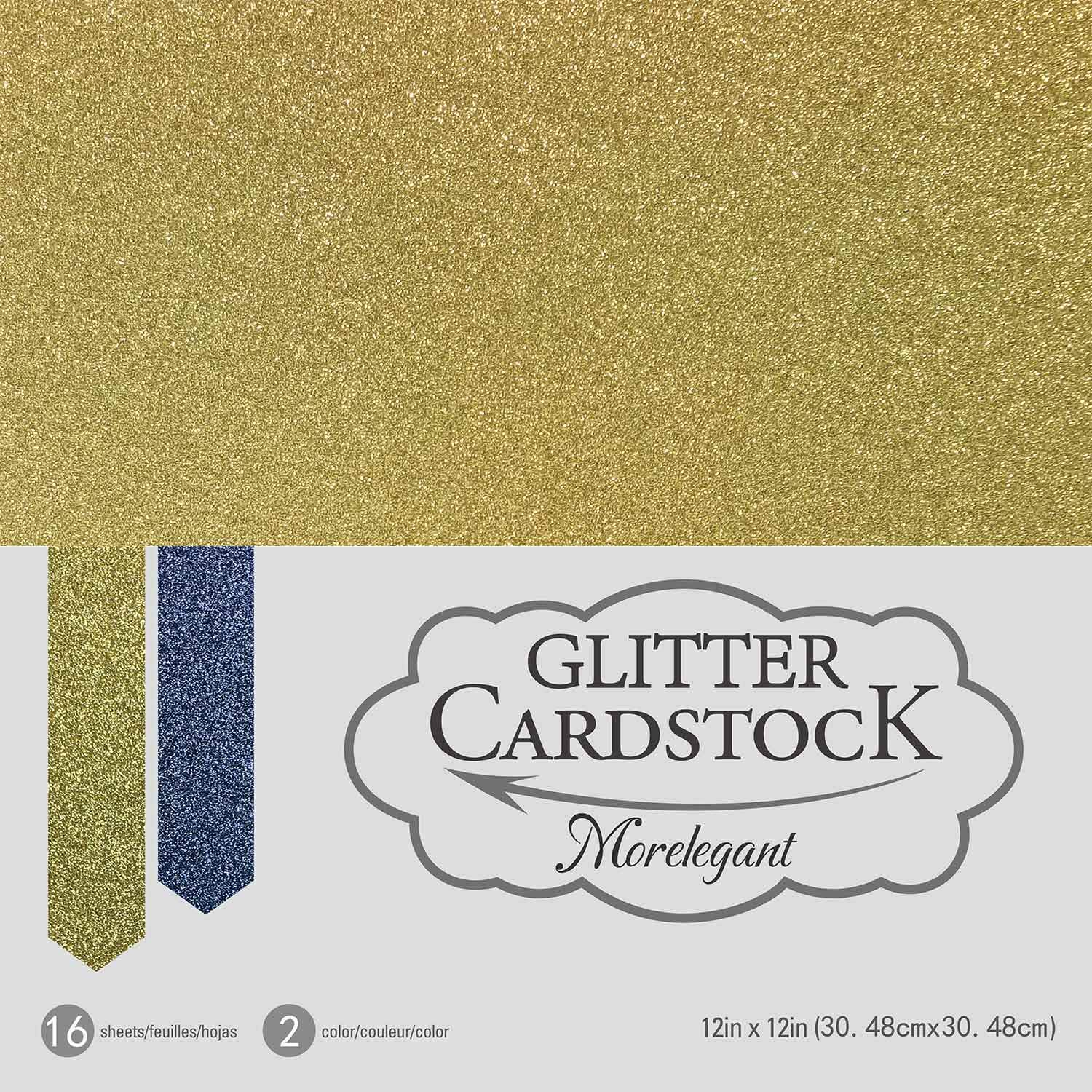 250gsm Heavy Cardstock Paper for DIY Craft Making Cake Topper Flowers Invitation Cards Party Banner Party Decoration 2 Colors 16 Pcs Gold and Black Glitter Cardstock 12x12 16 Sheets
