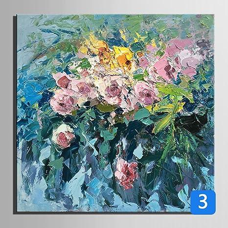 Fiori dipinti a mano pittura ad olio senza cornice pittura ...