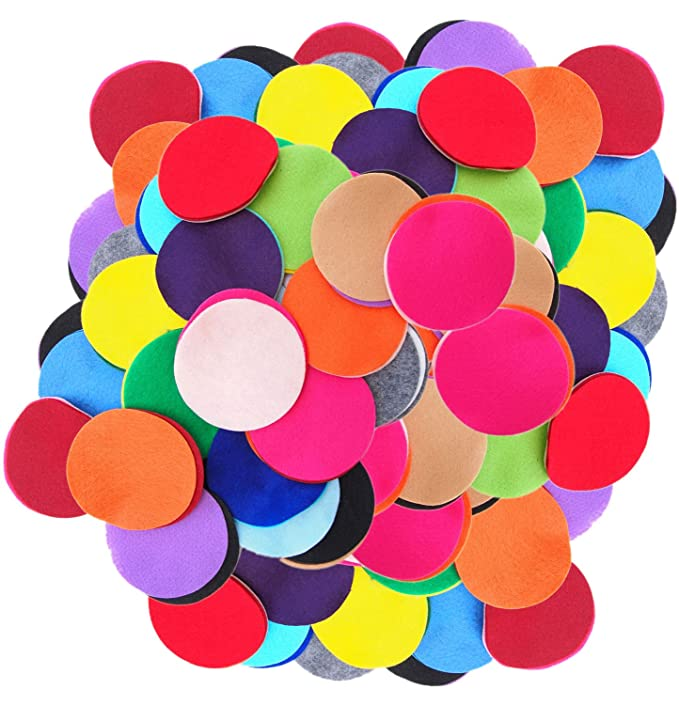 Playfully Ever After 2 Inch Mixed Color Assortment 100pc Felt Circles