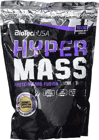 BioTechUSA Hyper Mass Bebida en polvo con carbohidratos, proteína y creatina, alto contenido de fibra dietética, sin azúcar añadido, 1 kg, ...
