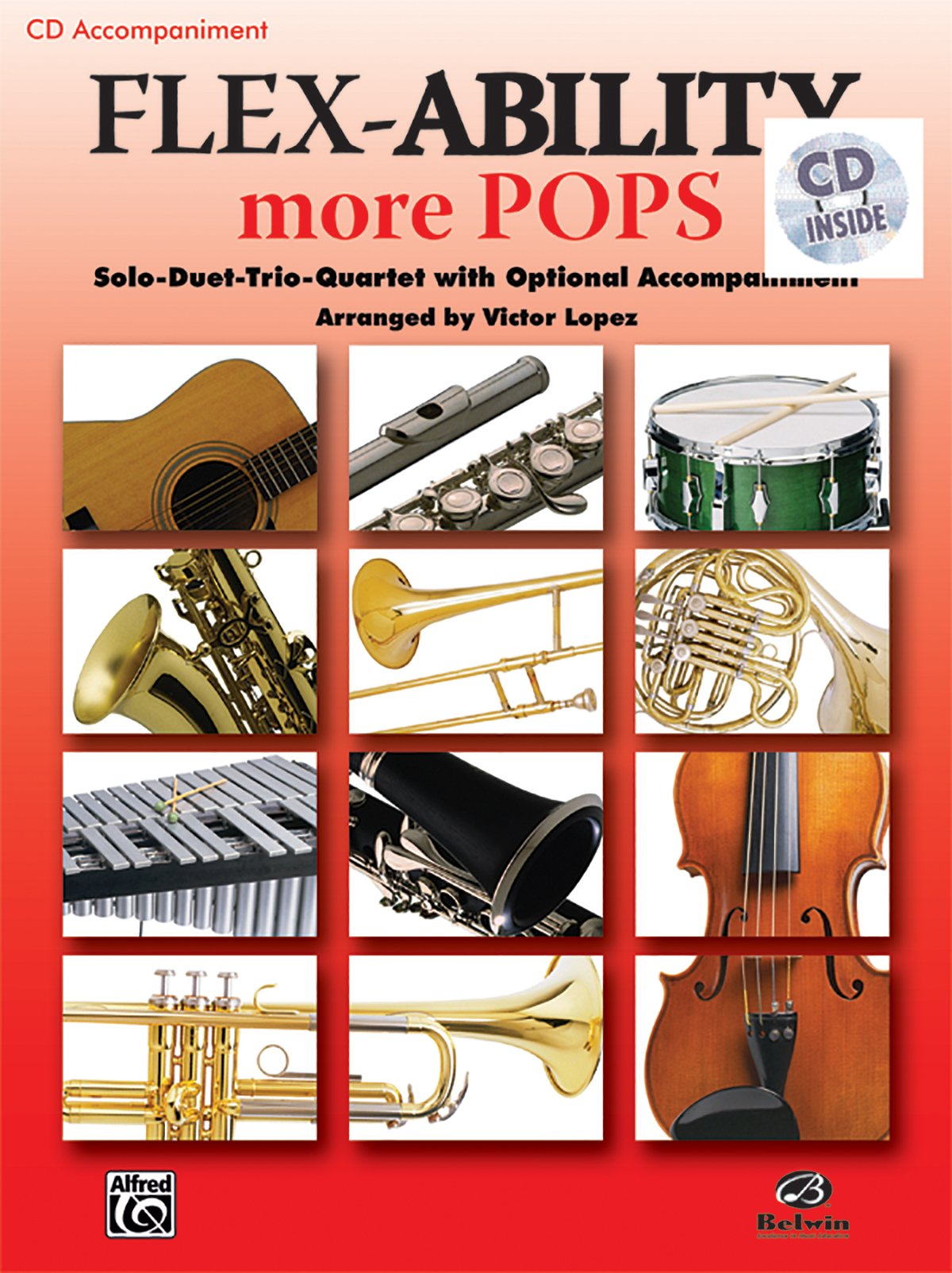 Download Flex-Ability More Pops -- Solo-Duet-Trio-Quartet with Optional Accompaniment: for All Instruments (CD) pdf