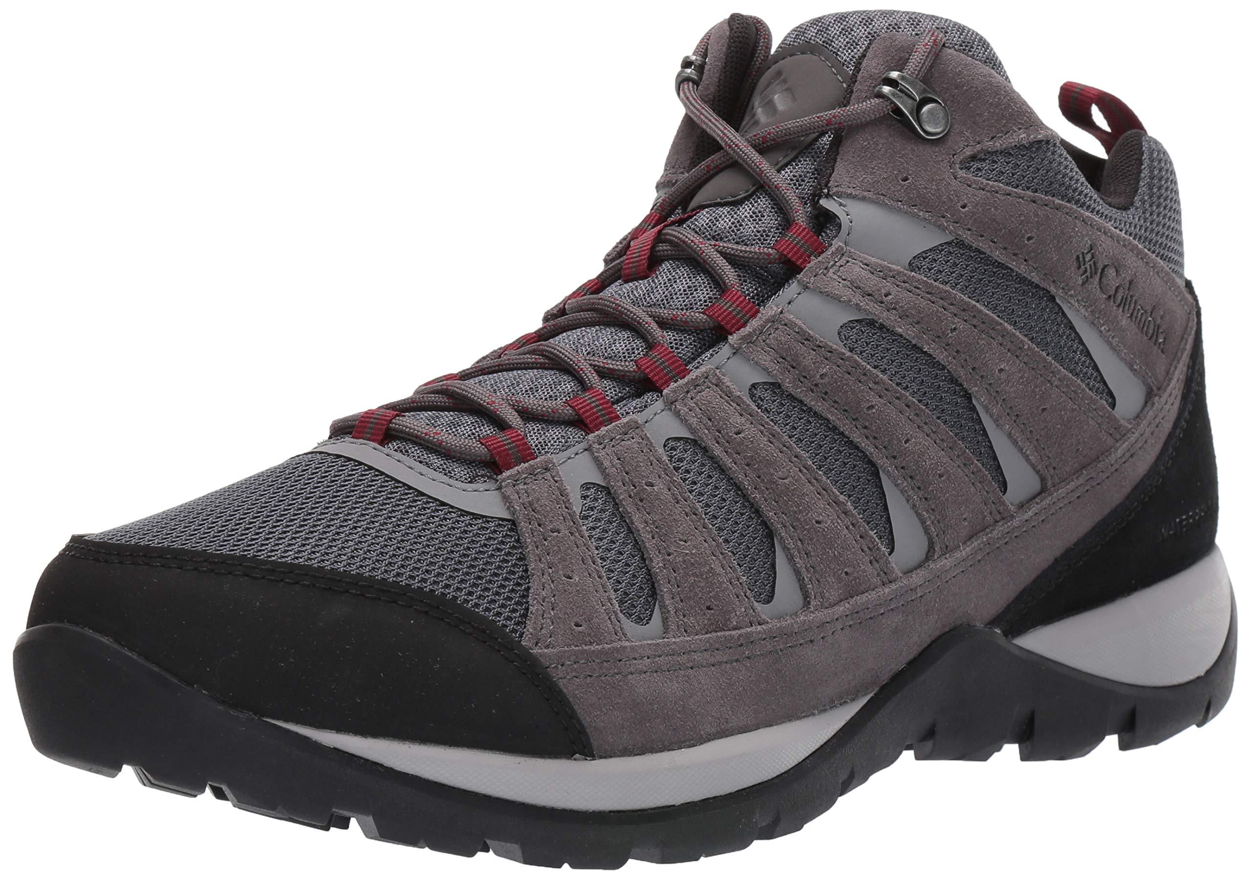 Columbia Men's Redmond V2 MID Waterproof Hiking Shoe, Graphite, red Jasper, 9 Wide US by Columbia