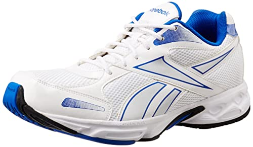 3de1065354ecf Image Unavailable. Image not available for. Colour  Reebok Men White Blue  Silver Mesh Running Shoes ...