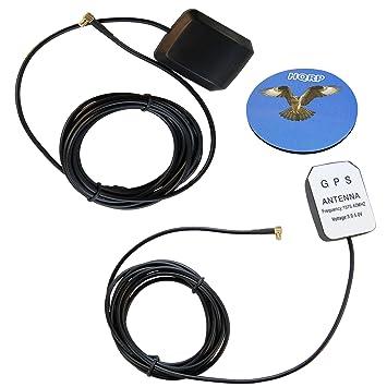 HQRP 2-Pack amplificada externo GPS de antena para Garmin GPSMAP60CS/GPSMAP76/GPSMAP76 C/GPSMAP76CS/GPSMAP76S/GPSMAP96/GPSMAP96 C/GPSMAP175 antena de ...