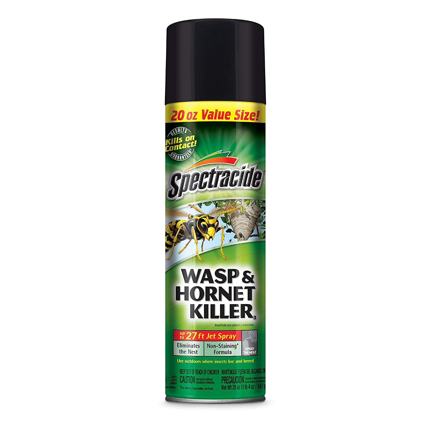 Spectracide 95715-1 Wasp and Hornet Killer Aerosol, 20-Ounce, Pack of 12