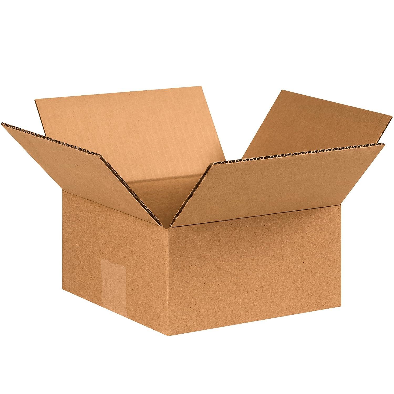 7 x 7 x 3 Kraft BOX USA B773 Flat Corrugated Boxes Pack of 25 7 x 7 x 3