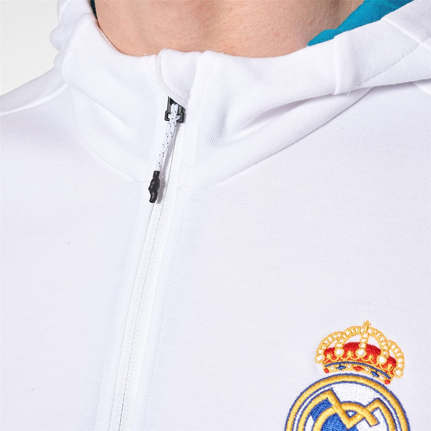Amazon.com : adidas Real Madrid Anthem Jacket 2017/18 (White ...