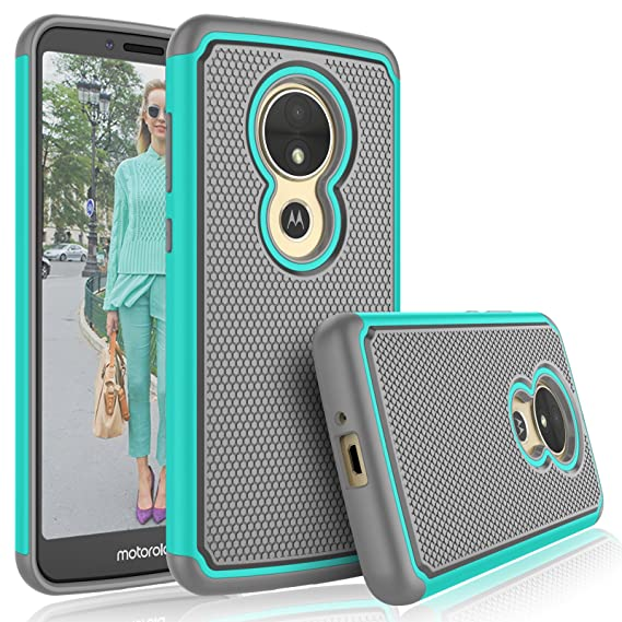 the best attitude 2c7bc d5b4a Tekcoo for Moto E5 Play Case,Motorola Moto E5 GO/Moto E5 Cruise Cute Case,  [Tmajor] Shock Absorbing [Turquoise] Hybrid Rubber Silicone & Plastic ...