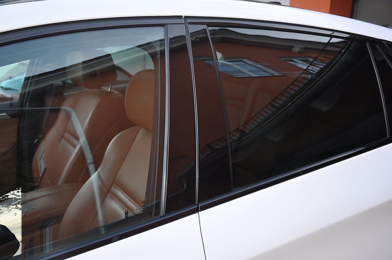 6x Hochglanz schwarz Tü rzierleisten Verkleidung B Sä ule Tü rsä ule passend fü r Ihr Fahrzeug StickandShine