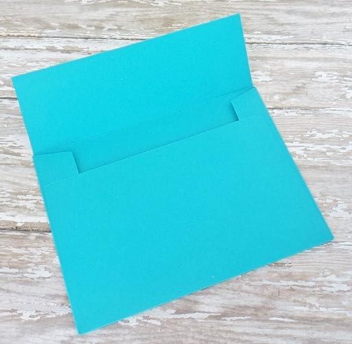Amazon.com: Turquoise Aqua Blue Envelopes for Invitations or Cards ...