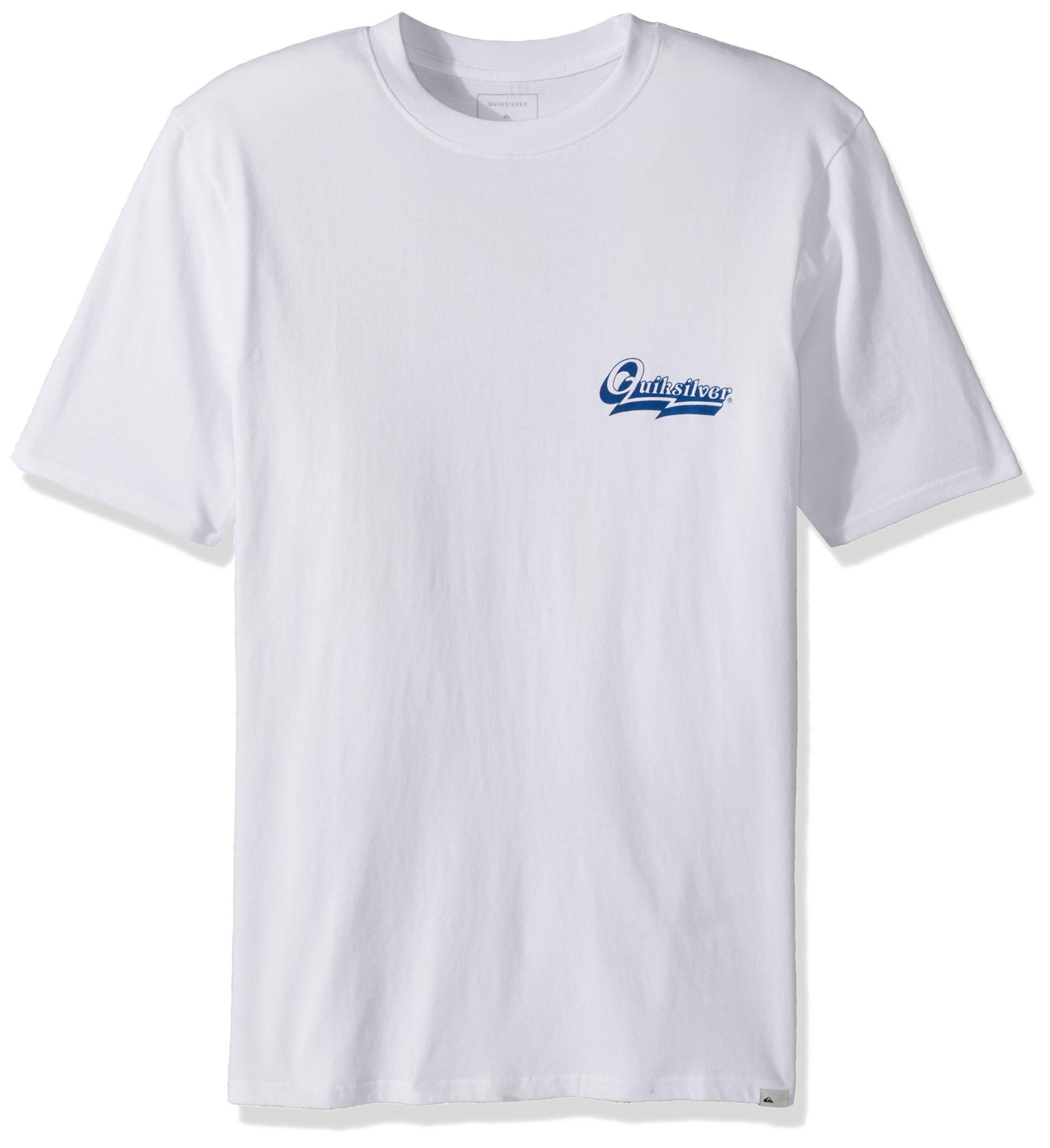 Quiksilver Men's Short Sleeve GMT Dye Hood Loves, White, L