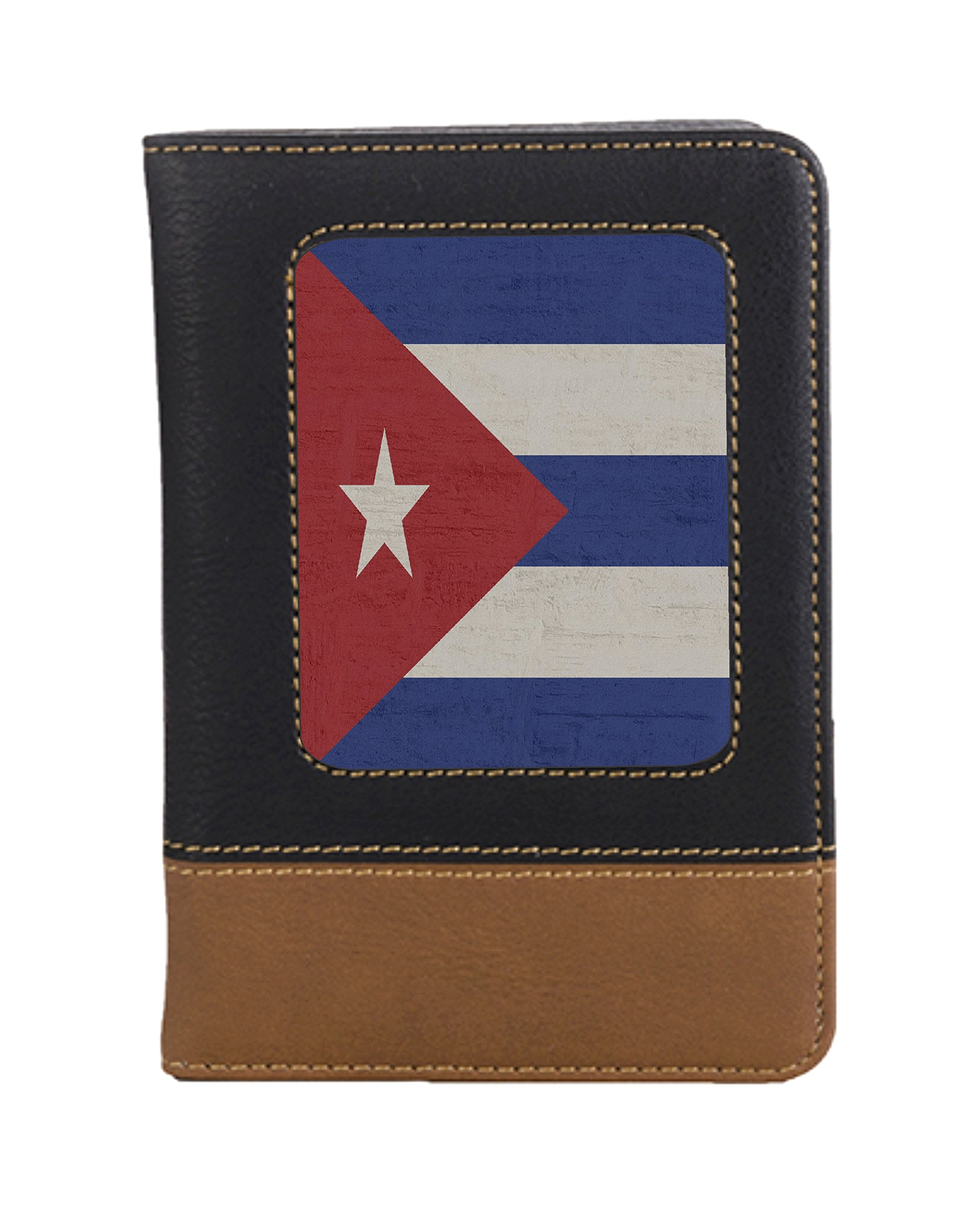 Cuban Flag Leatherette Passport Wallet Style Case Cover For Travel