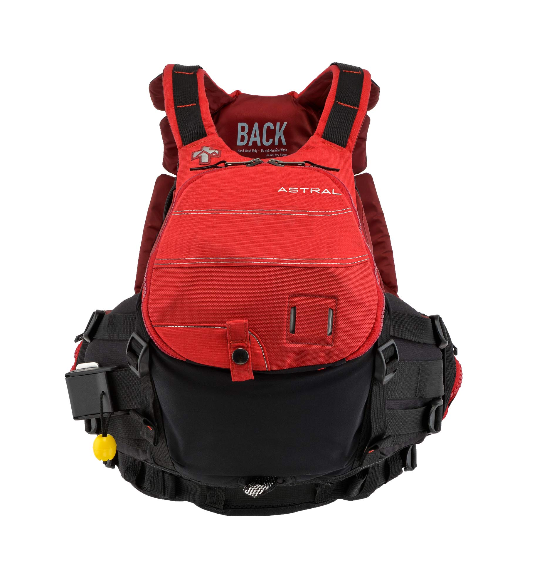 Astral GreenJacket Life Jacket PFD for Whitewater Rescue, Sea, and Stand Up Paddle Boarding, Cherry Creek Red, Small/Medium