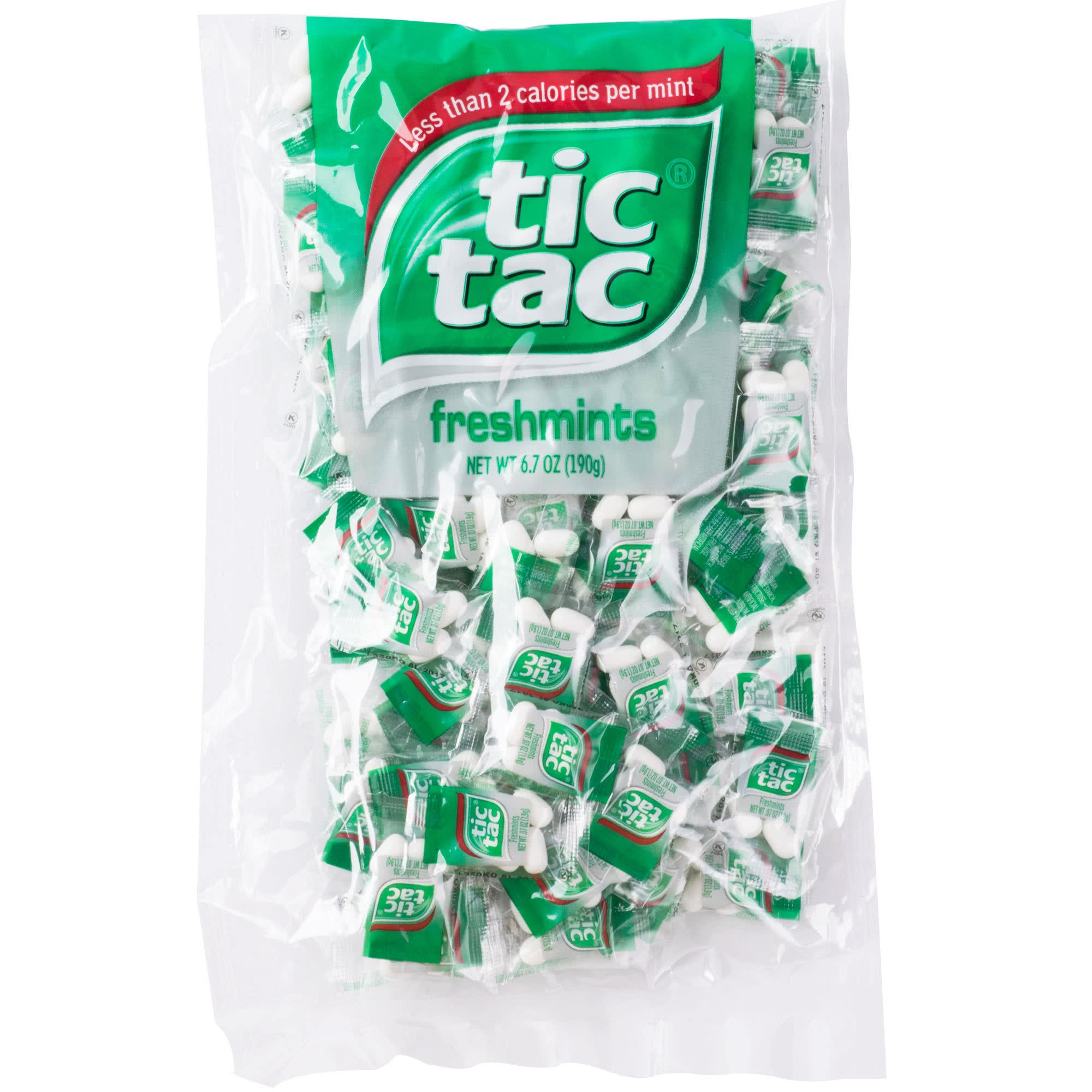 tic tac Freshmint Pillow Pack, 100 Count bag (Pack of 3) 300 individually wrapped packs of 4 mints each by Tic Tac