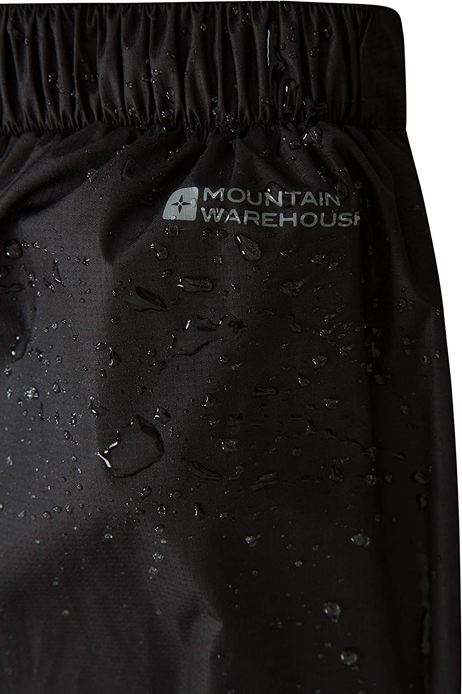 Hose mit Netzfutter F/ür Fr/ühling Ripstop Wandern und Radfahren Regenhose mit Rei/ßverschluss am Bein Mountain Warehouse Spray Wasserfeste /Überhose f/ür Damen