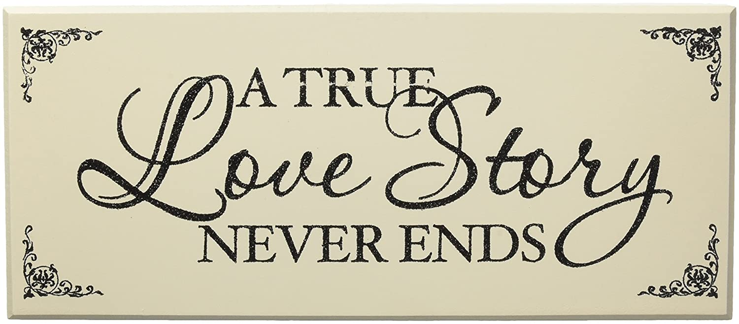 Darice Black & White Wedding Signs: Kiss the Bride/Love Story, 2 Assorted