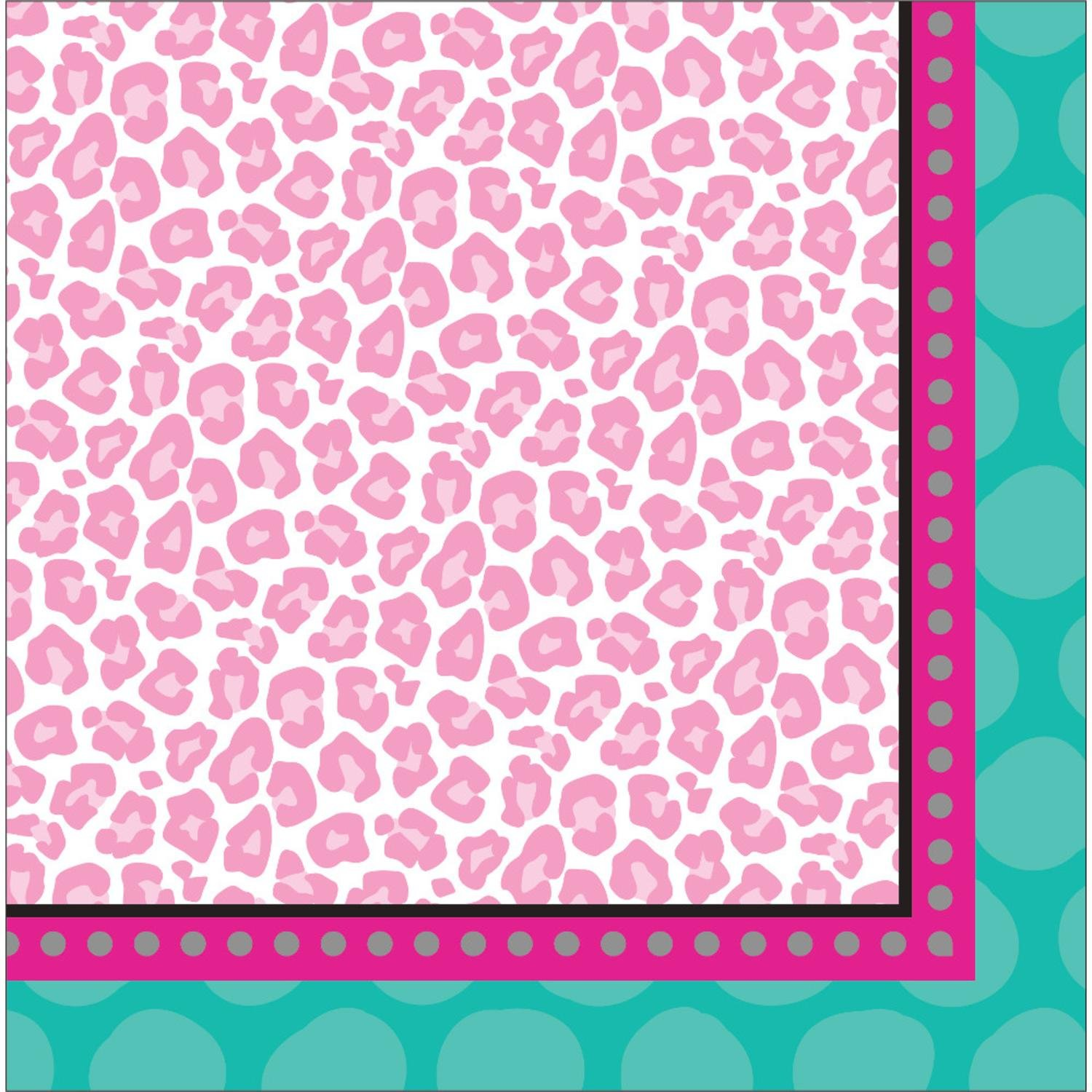 Club Pack of 192 Sparkle Spa Party! Paper Party Disposable 2-Ply Lunch Napkins 6.5''