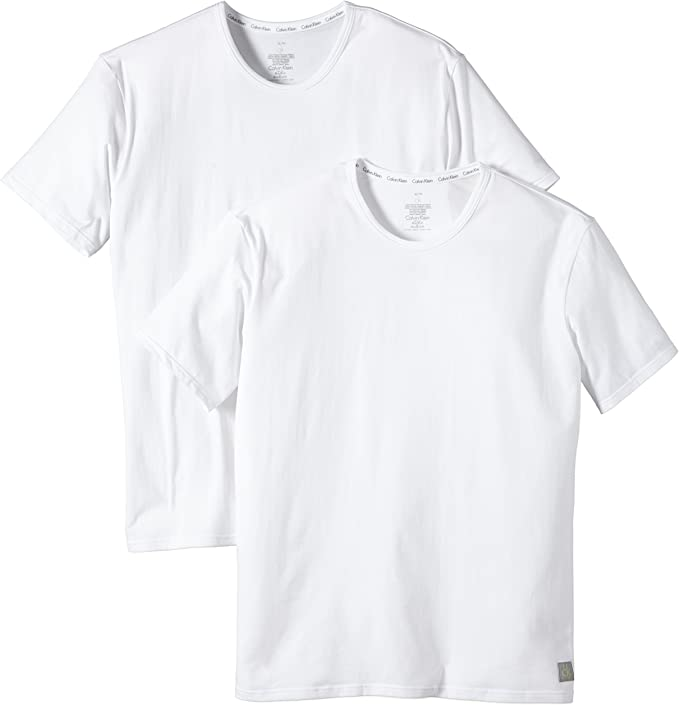 Calvin Klein Camiseta pack, Blanco 100, Small: Amazon.es: Ropa y ...