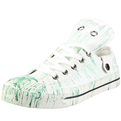 Nat-2 Stack 3 in 1 Art WS31WGS38, Damen, Sneaker, Weiss (White Green Stripes), EU 38