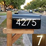 """Diggoo Reflective Mailbox Numbers Sticker Decal Die Cut Classic Style Vinyl Number 2"""" Self Adhesive 4 Sets for Mailbox, Signs"""