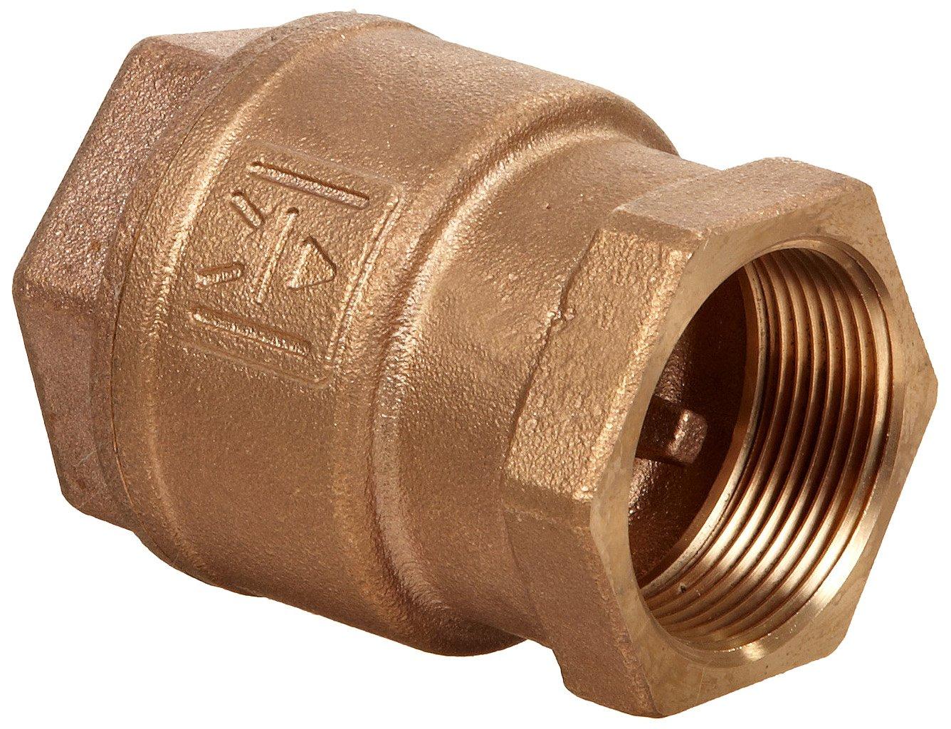 Milwaukee Valve UP548T Series Bronze Spring Check Valve, Potable Water Service, 2'' NPT Female